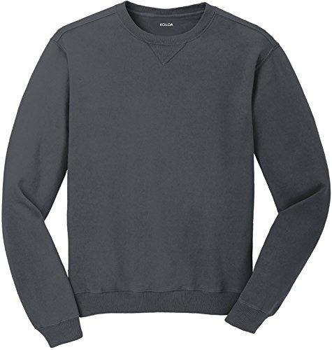 Koloa(tm) Pigment-Dyed Vintage Crewneck Sweatshirt-Coal-L