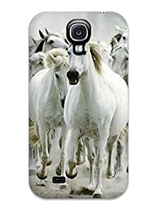 Awesome Horse Black And White Flip Case With Fashion Design For Galaxy S4