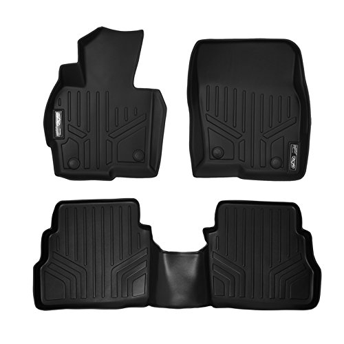 SMARTLINER Floor Mats 2 Row Liner Set Black for 2013-2016 Mazda CX-5