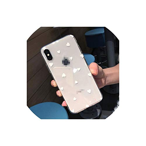 Xueli Transparent Wine Red Phone Cases for iPhone Xs Max XR X 8 7 6 6S Plus 5 5S SE Polka Dot Love Heart Back Case Cover Shell,9524 White,for iPhone 7 Plus (Iphone 5 Polka Dot Case)