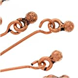 Copper Dangle One Ball Eye Pins 21 Gauge 2 Inches (10)