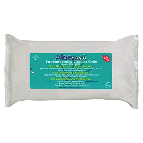 Image of Cloths & Creams AloeTouch Cloths, Personal Cleaning Wipes, 9' x 13', 48 per Pack, 12 Packs Per Case