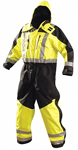Occunomix Rainwear - Menx27;s Polyester Cold Weather Coverall Rainsuit, Size: XL, Fits Chest Size: 48
