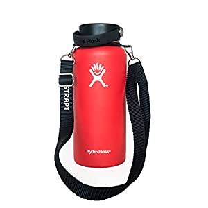 Best Hydro Flask Carry Handle Fully Adjustable Shoulder Strap By Hydrostrap - Simple Adjustable Strap For Carrying Water Bottles - Fully Adjustable To Shoulder Length