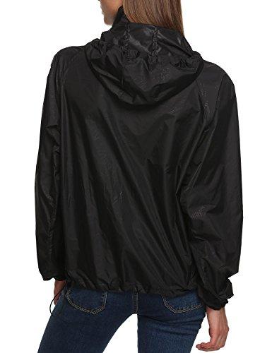 Abrigo Para Mujer Negro Impermeable Pagacat 8UwqzBd8