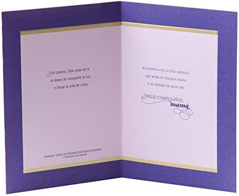 Hallmark Vida Spanish Religious Birthday Greeting Card For Mom Roses On Blue
