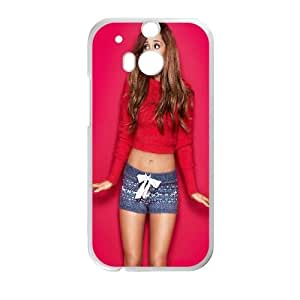 Ariana Grande_002 HTC One M8 Cell Phone Case White Protective Cover