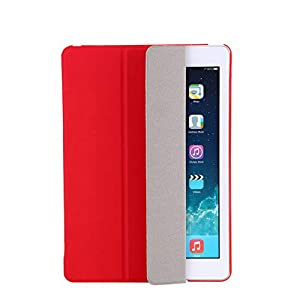 for Apple New for Ipad 9.7inch 2017 & 2018 Sleeping Wakup Ultral Slim Leather Smart Cover Case for Ipad,Red