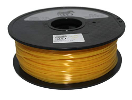 COLORME 3D Haze Filament Quality 3D Printer Filament Golden Haze PLA-(Amazing Gold Color)1KG (2.2 LBS) Made in The USA 1.75 mm +/- 0.05 mm Accuracy-Golden Haze