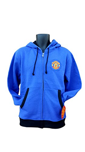 Manchester United Fc Hoody (Manchester United FC Soccer Zip Front Fleece Jacket Sweatshirt Official License Soccer Hoodie Extra Large 001)