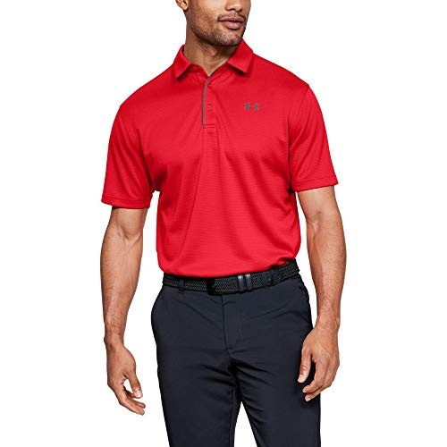 - Under Armour Men's Tech Golf Polo Shirt, Red (600)/Graphite, 4X-Large