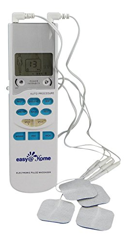 Easy@Home TENS Handheld Electronic Pulse Massager Unit, Health Canada, FDA and OTC approved Pain Relief therapy Device - a portable Muscle Stimulator for Electrotherapy Pain Management | Pain Relief on the Shoulder, Waist, Joint, Back, Arm,Leg & more