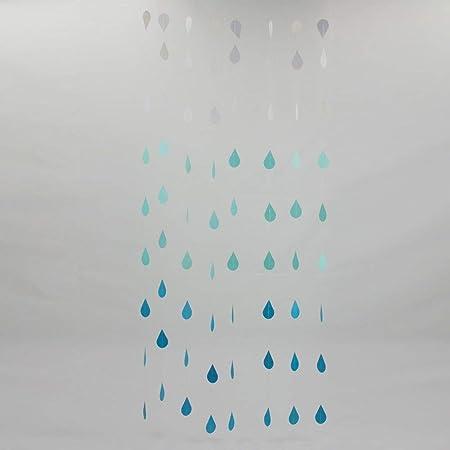 Gotas de Lluvia Colgante Papel Guirnaldas Cumpleaños de ...