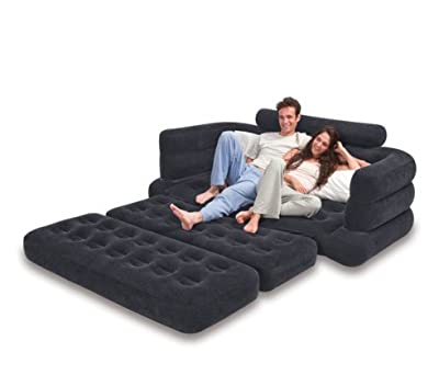 Sporting Goods-Camping Mattress-Premium Inflatable Pull-Out Sofa & Queen Bed Mattress Sleeper- Comfort, Convenience And Great Looks With One Luxurious Airbed