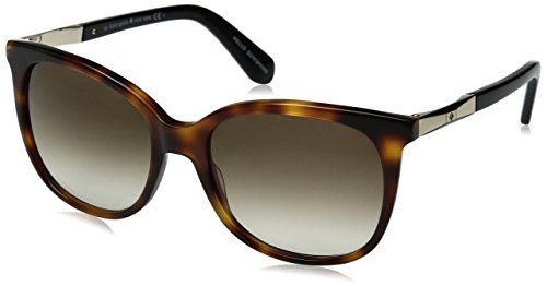 - Kate Spade Women's Julieanna Wayfarer Sunglasses, DARK HAVANA GOLD/BROWN GRADIENT, 54 mm