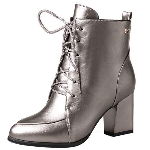 Mavirs Womens Ankle-high Masmel Block Heel Ankle-high Womens 7 cm Boots, Patent-Leather, 5 B(M) US B07GLRXR11 Shoes 334e78