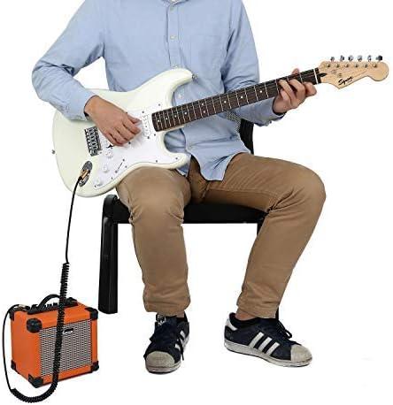 Asmuse C/âble de Guitare Spiral/é 32ft Plaqu/é Or Complet Angle Droite vers Droit Haute Elasticit/é C/âble de Guitare Boucl/é pour Guitare Electrique Basse Clavier