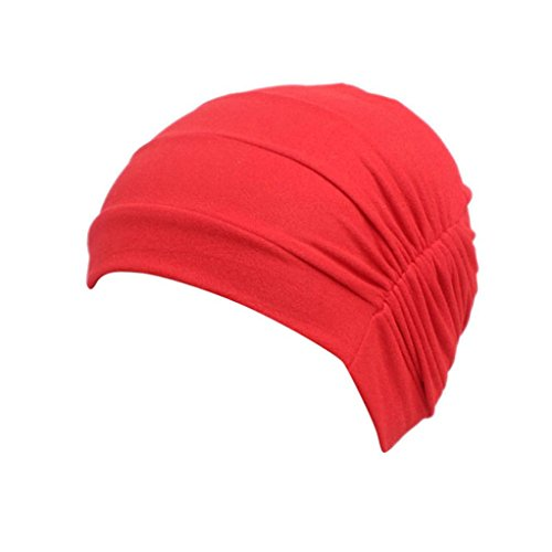 FEITONG Children Baby Girls Cotton Hat Beanie Scarf Turban Head Wrap Cap 3-8 years (Red) by FEITONG (Image #5)