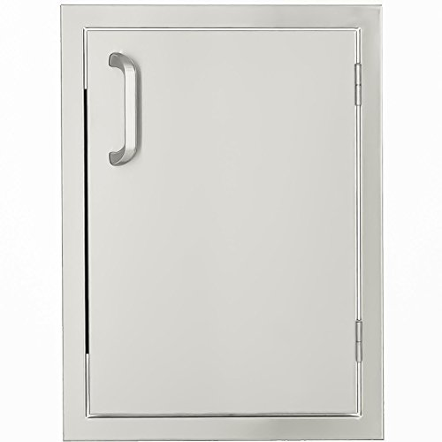BBQGuys.com Kingston Series 14-inch Stainless Steel Right-hinged Single Access Door - (Right Hinged Stainless Single)