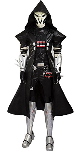 Overwatch Reaper Costume (Mtxc Men's Overwatch Cosplay Costume Reaper Full Set Size Medium Black)