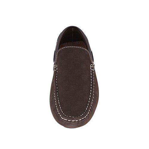 Brixon Mens Läder Klänning Sko Celio Slip-on Loafer Kenneth02 Brun