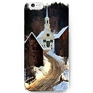 Hanifa Dirar Hadad's Shop Hot Phone Cases for iPhone 6 Plus(5.5 inch)- Ideal X-mas Gift - White House in the Mountain 6578647M36917829