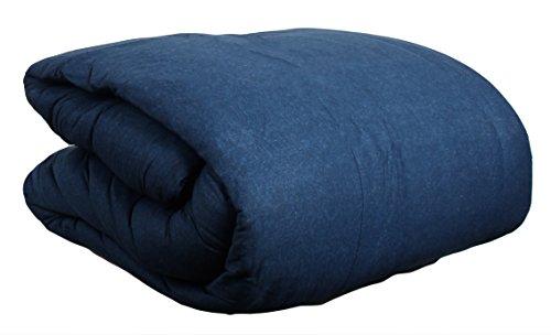 100% cotton Jersey Knit Comforter Twin Size Denim Blue