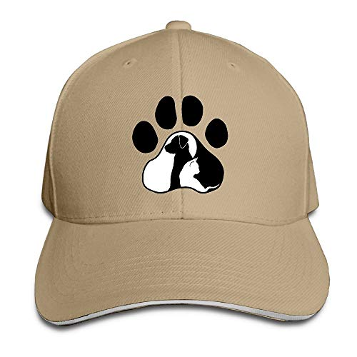 Adult Dog Cat Paw Cotton Lightweight Adjustable Peaked Baseball Cap Sandwich Hat Men Women -