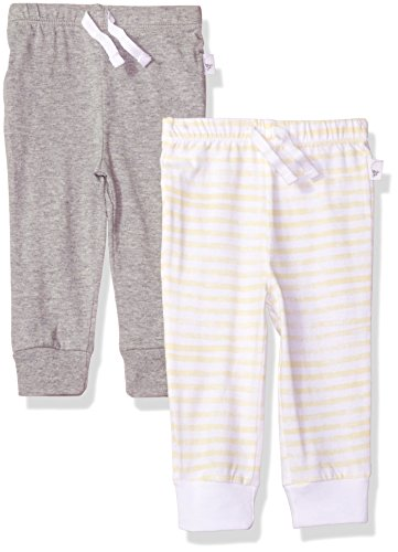Burt's Bees Baby Baby 2 Pack Organic Jogger Pants, Heather Grey, 12 Months