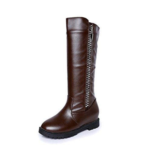 bottes femme,LHWY Les femmes de cuisses d'hiver de haute bottes au-dessus de la botte de genou chaussures talons plats