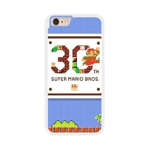 The best gift for Halloween and ChristmasiPhone 6 plus 5.5 inch Cell Phone Case White Super Mario Bros. 30th Anniversary (Halloween Chibi Maker)