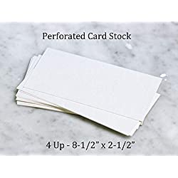 """Plastic Products Mfg 8-1/2"""" wide x 11"""" high Perforated Card Stock - For 8-1/2"""" wide x 2-1/2"""" high Name Plates - 4 Per Sheet (25 Pack)"""