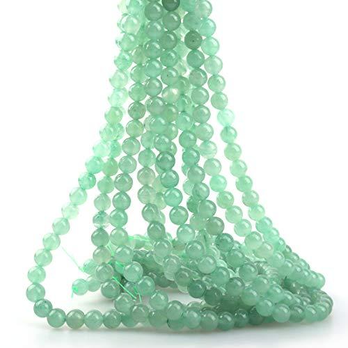 ICAI Beads 4mm Natural Green Aventurine Gemstone Round Loose Stone Beads for Jewelry Making DIY Crafts Design 1 Strand 15