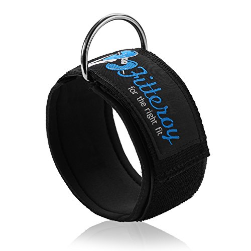 Fitteroy Ankle Strap for Cable Machine Exercise Strap with Neoprene Padding