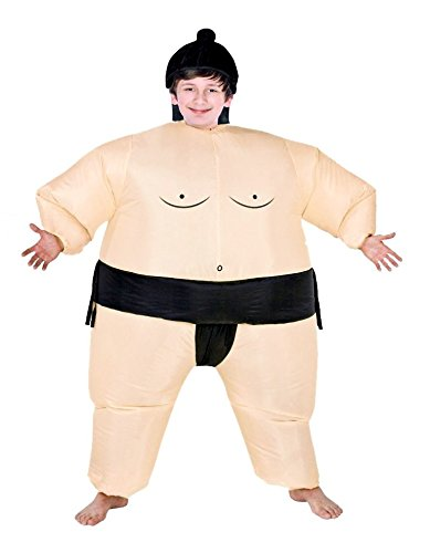 Inflatable Air Blown Sumo Wrestler Costume for Boys