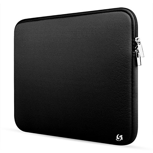 Litop 15.6 Inch Neoprene Zippered Laptop Sleeve Case Cover Shell for 15 inch Apple MacBook Air MacBook Pro and Other 15-inch Laptop Notebook Computer (15-inch, Black)