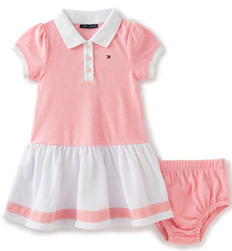 tommy-hilfiger-baby-girls-2-pieces-polo-dress-set-pink-18m