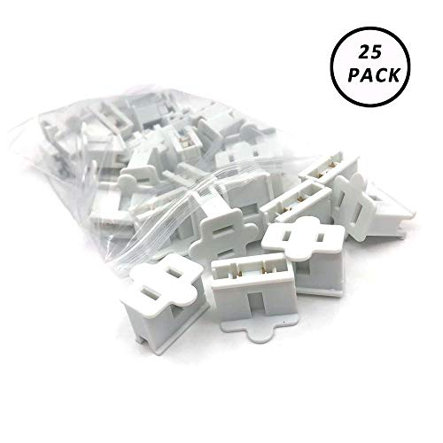 25 Zip - Aniai (25) Pack Zip Plug - Male Female Gilbert plug - Vampire plug SPT-1 SPT-2 (spt1 female, white)