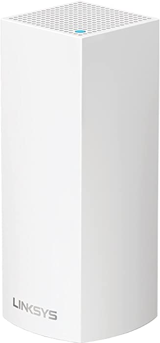 Linksys Velop Tri-Band Home Mesh WiFi System - WiFi Router/WiFi Extender for Whole-Home Mesh Network (1-pack, White)