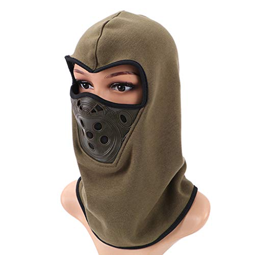 Smdoxi Windproof ski mask Cap Outdoor Sports Cap Hiking Camping Trip Riding hat Scarf Neck Warm Headscarf Army Green ()