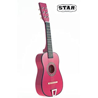 Star Kids Acoustic Toy Guitar 23 Inches Color Hot Pink, MG50-HPK