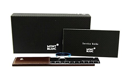 MONTBLANC RARE 7757 LIFESTYLE ACCESSORIES RULER BROWN LEATHER CASE. FRANCE by MONTBLANC