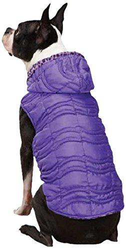 East Side Collection Vibrant Leopard Reversible Pet Vest, Large, Ultra Violet