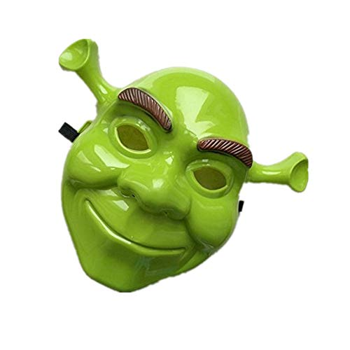 mywaxberry Halloween Festival Green Shrek Cartoon Costume Party Cosplay mask for $<!--$7.87-->