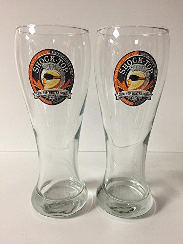 Shock Top Beer - Choc Top Winter Combo - 16oz Pint Glass - 2 Pk (Shock Top Beer Glass)