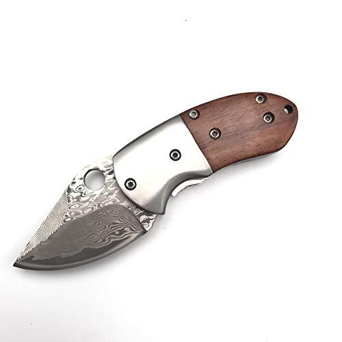 """STARIMCARBON 4.6"""" Mini Damascus Pocket Folding Tactical Tool Knife"""