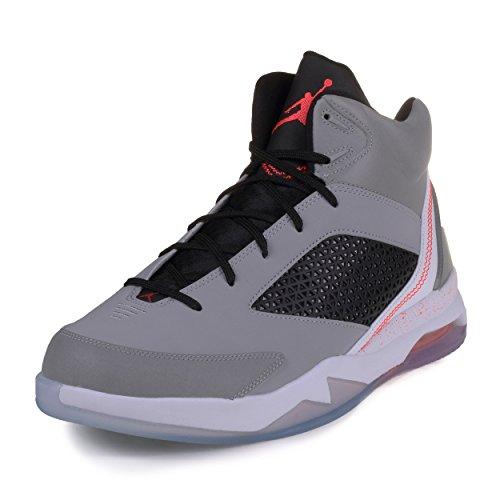 (Jordan Mens Nike Air Jordan Flight Remix Basketball Shoes-Wolf Grey/Infrared 23-11.5)