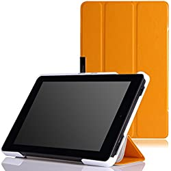 MoKo Case for Fire HD 7 2014 - Slim Lightweight Smart-shell Cover with Auto Wake / Sleep for Amazon Kindle Fire HD 7 Inch 4th Generation Tablet (Not Fits HD 7 2015), FM YELLOW