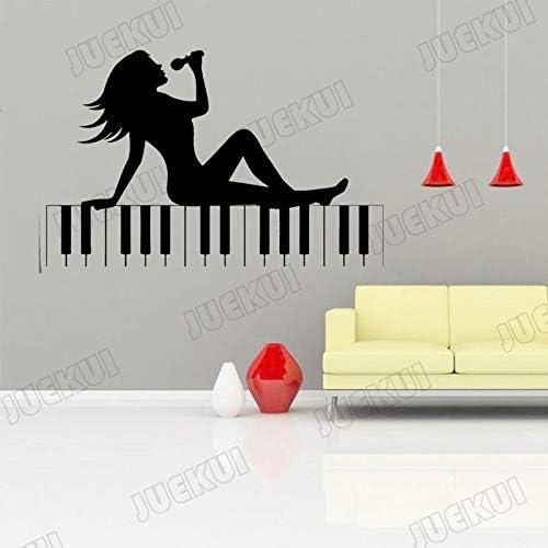 jiushivr Piano Singer Beauty Wall Sticker para Music Room ...