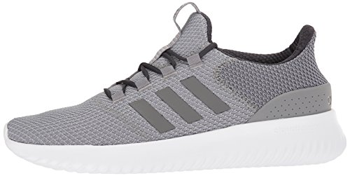 adidas Men's Cloudfoam Ultimate Running Shoe Sneaker Grey/White/Carbon 5 M US by adidas (Image #5)